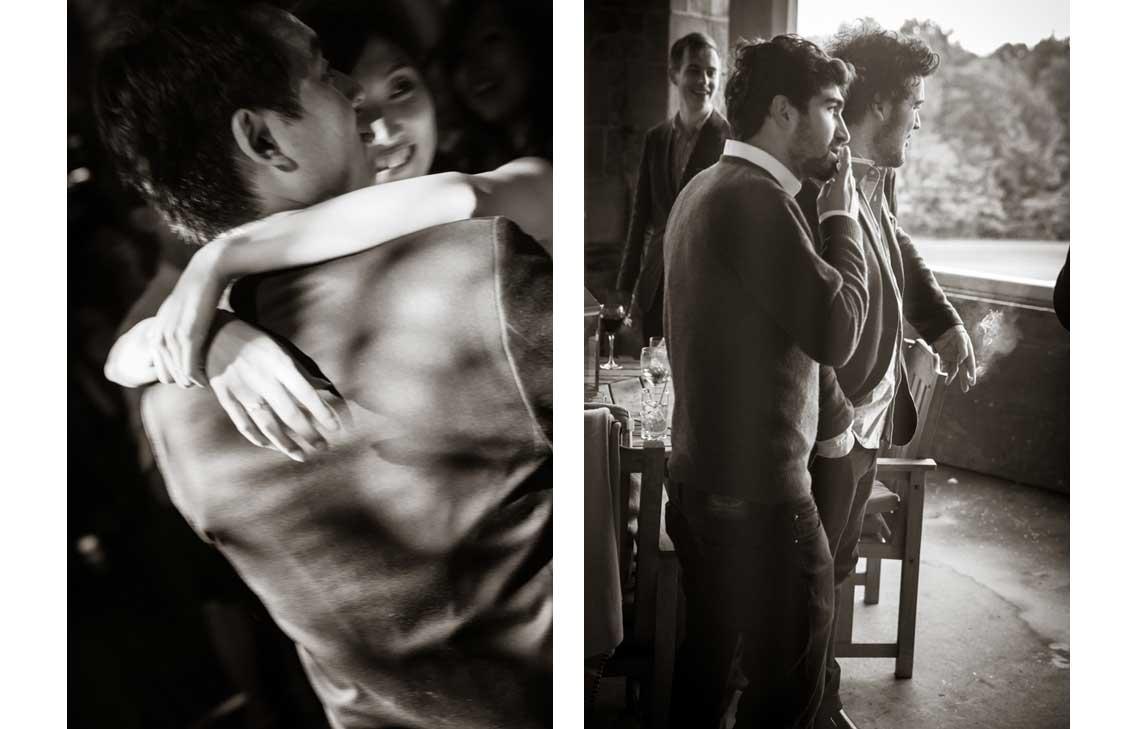 Yukiko / Gentlemen Guests Smoking - shot by New York wedding photographer, Laurie Rhodes